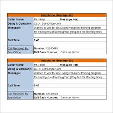 15 phone message templates excel pdf formats