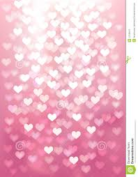 Pink Color Vector Defocused Lights In Heart Shape Pink Color Stock Photos