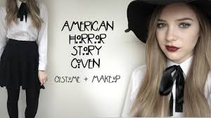 Halloween Black And White Makeup by Ahs Coven Halloween Costume Makeup Youtube