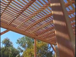 How To Build A Wooden Pergola by How To Build A Redwood Pergola Youtube