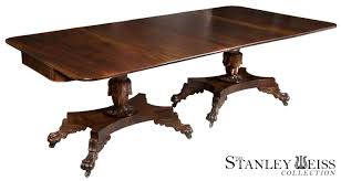 classical carved mahogany dining table quervelle philadelphia c
