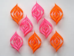 paper decorations diy paper christmas ornaments how about orange