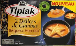 cuisiner homard surgelé 2 délices de gambas bisque de homard surgelés tipiak 2 90 g