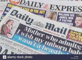 the front pages and mastheads of uk british english daily national