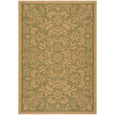 7 X 10 Outdoor Rug Green Border 7 X 10 Outdoor Rugs Rugs The Home Depot