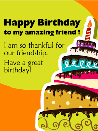 to my amazing friend happy birthday card birthday cards