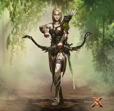 concept art elf ranger female might u0026 magic x legacy artwork