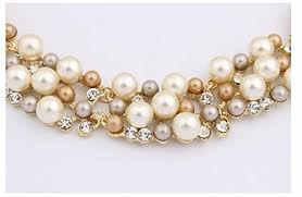 fashion jewelry pearl necklace images Shining diva fashion jewellery party wear choker necklace set jpg