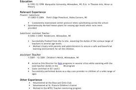 Sample Resume For Assistant Teacher In Preschools by Preschool Assistant Teacher Resume Sample