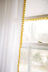 Curtains With Pom Poms Decor Fancy White Curtains With Pom Poms Decorating With Best 20 Yellow