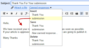 how to auto reply to email messages using gmail canned responses