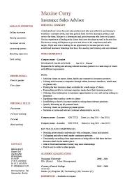 Insurance Agent Job Description For Resume Insurance Sales Resume Example Sample Marketing Telesales