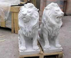 marble lion statues marble statuary carved animal