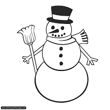 snowman coloring pages kiopad