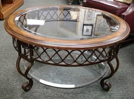 Glass Round Coffee Table by Wood And Glass Coffee Table For Modern Furniture Chocoaddicts