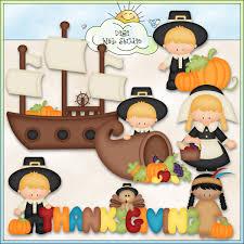 thanksgiving day pilgrims 2 ne kristi w designs clip digi