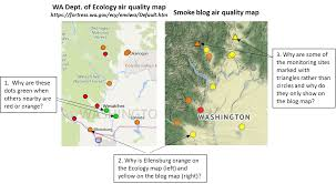 Wenatchee Washington Map by Washington Smoke Information August 2017