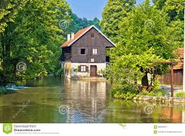 rastoke village on korana river stock photo image 60825227