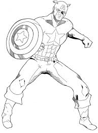 Printable Captain America Coloring Pages Coloringstar Captain America Coloring Page