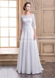 satin wedding dresses a line sleeves buttons back lace satin wedding dress