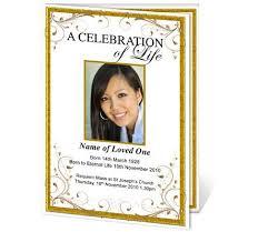 make a funeral program 8 best order of service sheets images on funeral