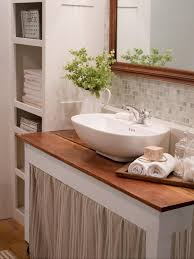 Bathroom Sink With Cabinet by Small Bathroom Vanities Hgtv