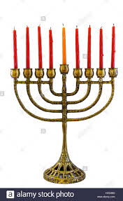 menorah candle hanukkah background with menorah candles isolated