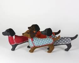 felt dachshund ornament dog christmas ornament clara u2013 puffin