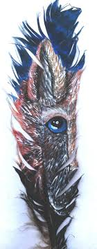 wolf feather painting by atrafeathers on deviantart