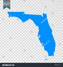 Map Of Fla Transparent High Detailed Blue Map Florida Stock Vector 622050320