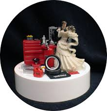 car auto mechanic wedding cake topper bride groom top tools funny
