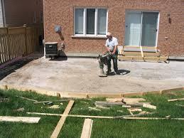 Poured Concrete Homes by Backyard Cement Patio Ideas Backyard Landscape Design