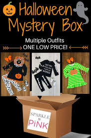 halloween mystery boxes many sizes sparkle in pink