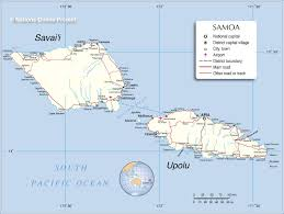 map samoa map of western samoa the independent state of samoa nations