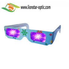wholesale paper diffraction 3d glasses fireworks glasses
