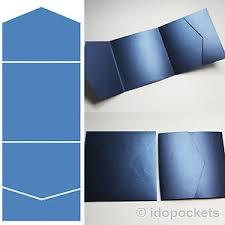 Wedding Pocket Envelopes Royal Blue Navy Square Vertical Wedding Invitation Envelopes Diy