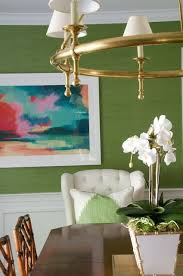 Green Dining Rooms by Best 25 Grasscloth Dining Room Ideas On Pinterest Dining Room