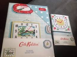 Cath Kidston Single Duvet Cover Bnip Cath Kidston Clocks Single Duvet Set Extra Pillowcase Ebay