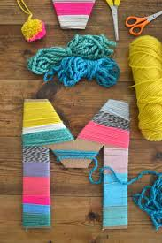 yarn wrapped cardboard letters cardboard letters yarns and wraps