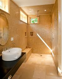 bathroom shower designs shower stall with woodlike tile that has