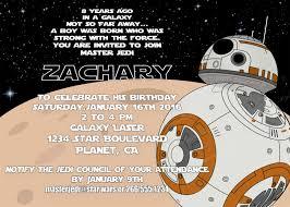 star wars personalized birthday invitations marialonghi com