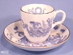 Dragon Coffee Cup Rare Royal Worcester Blue Dragon Vintage Bone China Coffee Cup And