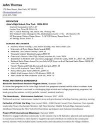 Good Teenage Resume Examples by Resume Fred Loya Lubbock Cover Letter Format Internship List Of