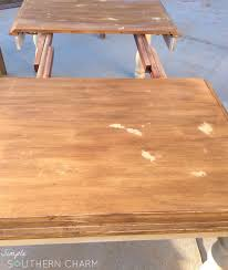 A Painting Secret You NEED To Know And A General Finishes Java Gel - Sanding kitchen table