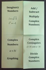 complex numbers foldable i speak math