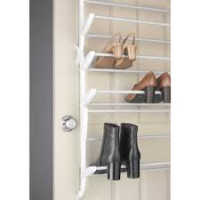 White Shoe Cabinet With Doors by 24 Pair Shoe Rack Non Slip Over The Door Cheap Closet