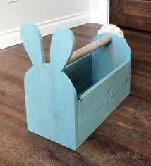 wooden easter baskets white wood easter basket bunny shaped trug diy projects