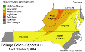 maryland foliage map 2015 when is the best time to see the leaves change color in the