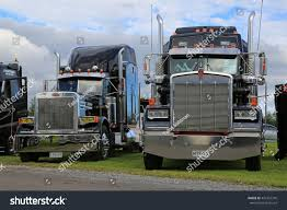 kenworth peterbilt alaharma finland august 12 2016 classic stock photo 472437316