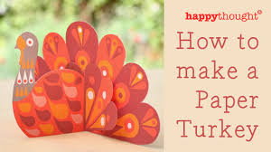 how to make a paper turkey printable thanksgiving craft